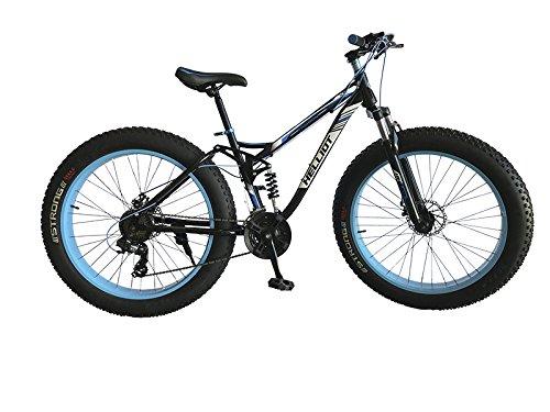 Helliot Bikes Fat Extreme Terrain 01, Bicicletta Unisex – Adulto, Nero, Taglia Unica
