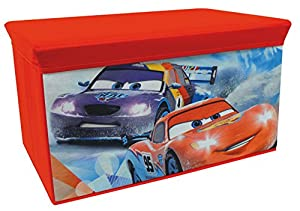 Fun House 712444 - Cesto para Juguetes Plegable, diseño de Cars Ice Racing