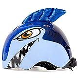 KING BIKE - Casco da Bicicletta per Bambini, Multi-Sport, per Skateboard, Ciclismo, Skateboard, Monopattino, per Bambini (3-10 Anni), Blue