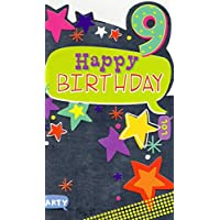 Childrens Happy 9th Birthday Greeting Card Fun Age 9 Today Cards