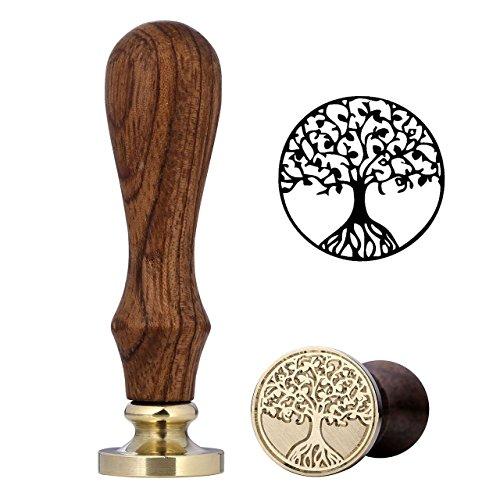 Mogoko Wachs-Siegel-Stempel Vintage Retro Kupfer mit tollem Muster (viele Muster erhältlich) Tree...