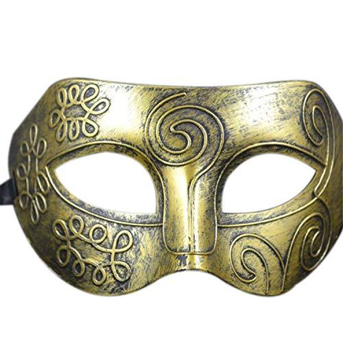 Zolimx Halloween Maske Gold Retro Venezianische