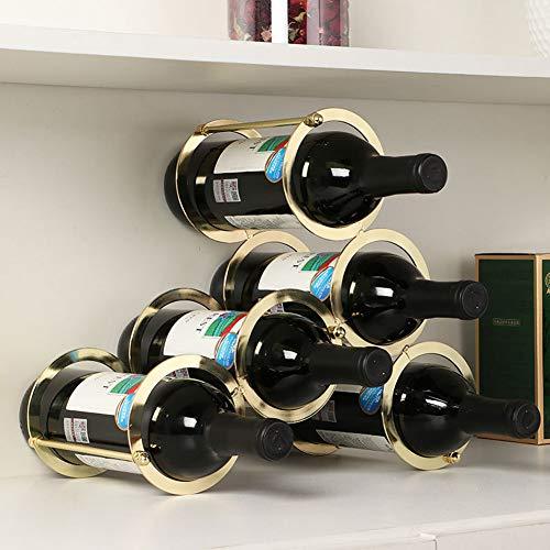 Himamk Cave à vin modulable, Étagère à Bouteille, Casier à Bouteille, Range Bouteille, Porte Bouteille 5 Bouteilles de vin 32cm,Yellow