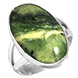 Naturale Verde Svizzera Opal Pietra preziosa Anello Solido 925 Sterling Argento Fatto a mano Gioielli Dimensioni 12.75