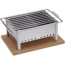 Sauvic 02908 - Barbacoa sobremesa Inoxidable, 18/8, 25 x 20 cm