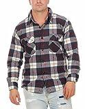 Herren Thermohemd Fleecehemd Arbeitshemd ID524, Größe:XXL;Farbe:Blau