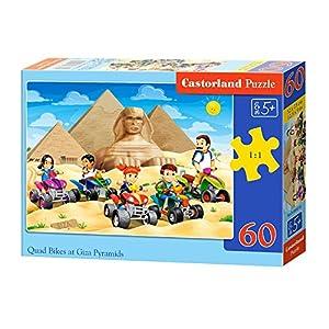 CASTORLAND Quad Bikes at Giza Pyramids 60 pcs Puzzle - Rompecabezas (Puzzle Rompecabezas, Dibujos, Niños, Niño/niña, 5 año(s), Interior)