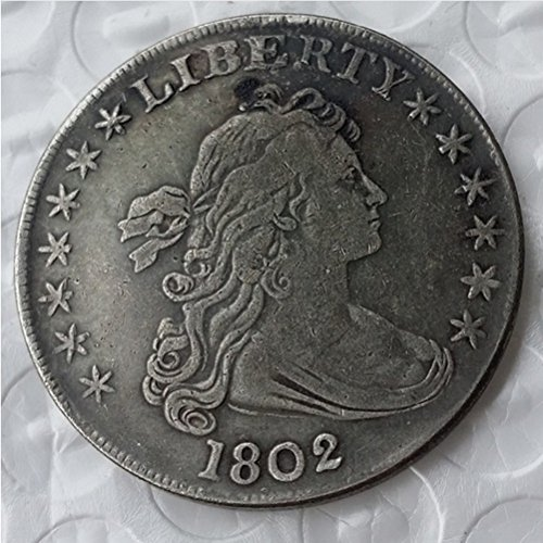 Bespoke Souvenirs Rare Antique USA United States 1802 Liberty Silver Color Dollar Coin Seltene Münze