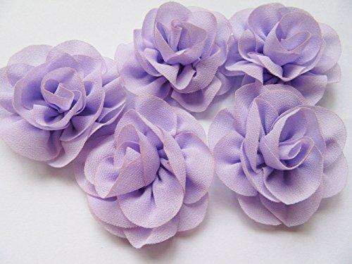 yycraft Pack von 10Pcs von Baby Chiffon Blumen Haar Chiffon Rose 5,7cm (5,7) Hochzeit Blumen Haar Zubehör lavendel (Kleinkind T-shirt Lavendel)