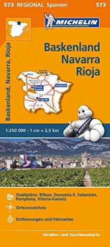 Navarra, Rioja: Straßen- und Tourismuskarte 1:250.000 (MICHELIN Regionalkarten) ()