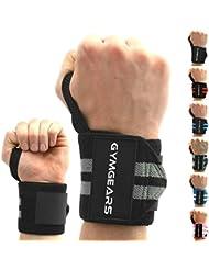 Handgelenkbandage [2er Set] Wrist Wraps 45cm - Profi Bandagen für Kraftsport, Bodybuilding, Powerlifting, CrossFit & Fitness - Für Frauen & Männer geeignet - 2 Jahre Gewährleistung