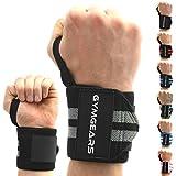 Handgelenkbandage [2er Set] Wrist Wraps 45cm Profi Bandagen für Kraftsport Bodybuilding...