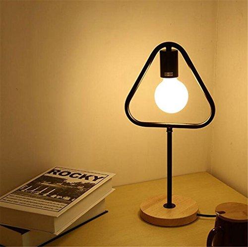ELEGENCE-Z Tischlampe Nordic Minimalistischen Kreative Wohnzimmer Schlafzimmer Studie Dekoration Personalisierte Schreibtisch Beleuchtung Geometrische Quadrat Dreieckige Runde , C -