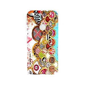 iSweven Many_Curcle design printed matte finish multi-colored back case cover for google pixel XL