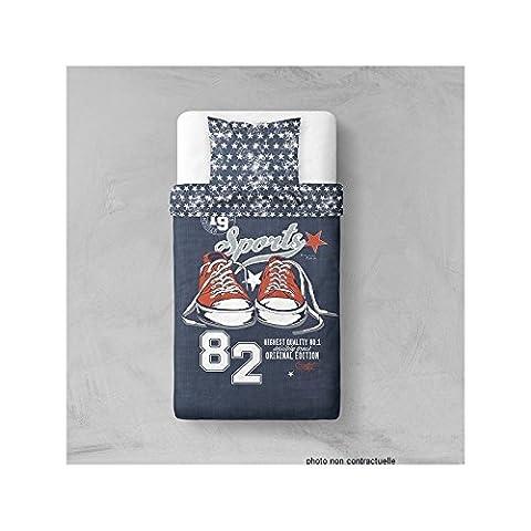 Parure Housse de couette en polyester 140X200 cm Sports