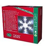 Konstsmide 4438-203 LED Dekofigur 'Schneeflocke' / für Innen (IP20) /  Batteriebetrieben: 3xAAA 1.5V (exkl.) / 7 kalt weiße Diode
