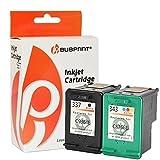 Bubprint 2 Druckerpatronen kompatibel für HP 337 HP 343 HP337 HP343 für Deskjet 5900 5940 5950 6940 6980 Officejet 100 150 Mobile 6300 6310 6315 H470