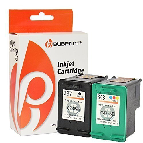 Bubprint 2 Druckerpatronen kompatibel für HP 337 HP 343 HP337 HP343 für Deskjet 5900 5940 5950 6940 6980 Officejet 100 150 Mobile 6300 6310 6315 H470 (Hp Mobile Printer 100)