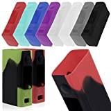 DIY-24H - Schutzhülle für Joyetech Evic VCT mini Silikon Silikonhülle Case Silicone Bumber Cover (Schwarz/Rot)