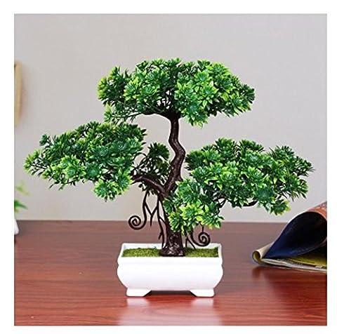 Simulation einladende Kiefer Pflanze vergossen Bonsai grünen Baum grünen Plantage Hause Dekorationen Desktop-Pflanze Ornamente , C
