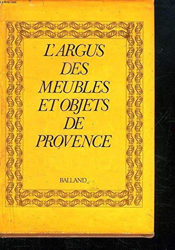 L'Argus des meubles et objets de Provence