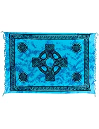 Sarong Pareo Wickelrock Handtuch Strandtuch Wickelkleid Deko Keltisch Muster Celtic Batik