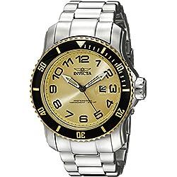 Invicta Pro Diver 15074 48.8mm Silver Steel Bracelet & Case flame fusion Men's Watch