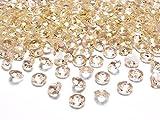 Schnooridoo 500 Diamanten Gold/apricot 12mm Tischdekoration Streuartikel Hochzeit Taufe Konfirmation Event Deko