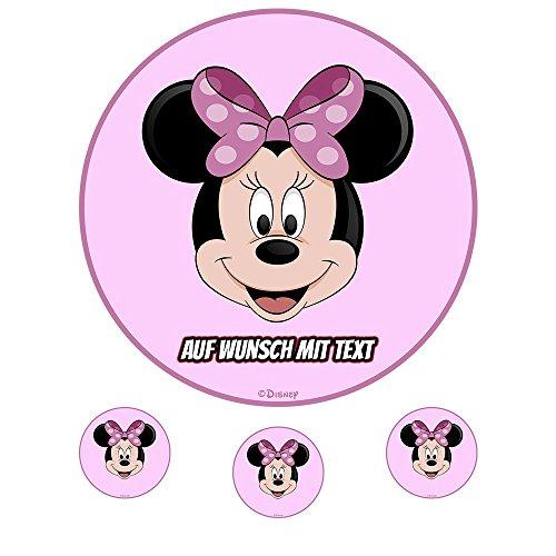 tstag Tortenbild Zuckerbild Oblate Motiv: Disney Minnie Maus 10 (Zuckerpapier) ()