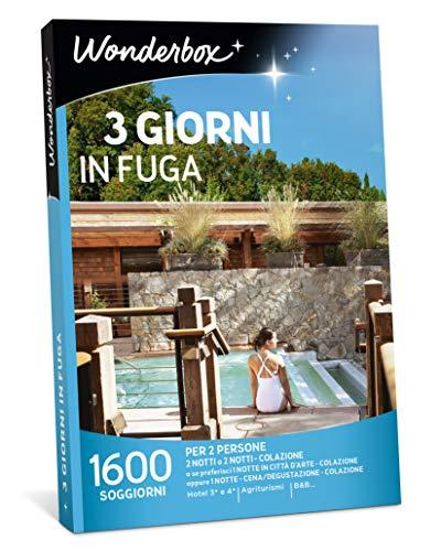 Wonderbox - Cofanetto Regalo per Natale - 3 Giorni in Fuga - 1600 SOGGIORNI per 2 Perso