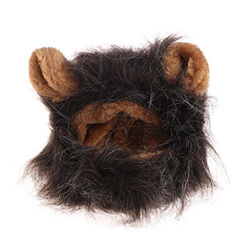 Kostüm Niedliches Frauen Löwen - Keshida Haustierkostüm für Cosplay Katze Löwen Mähne Perücke süß Hund Kappe Weihnachten Kleid mit Ohren TB