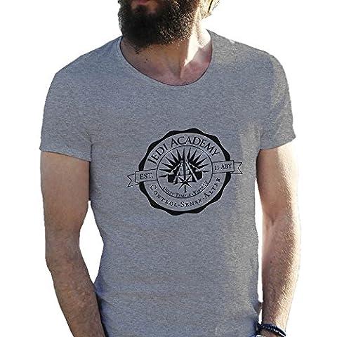 Jedi Academy Star Wars Gris T-Shirt pour les hommes Large