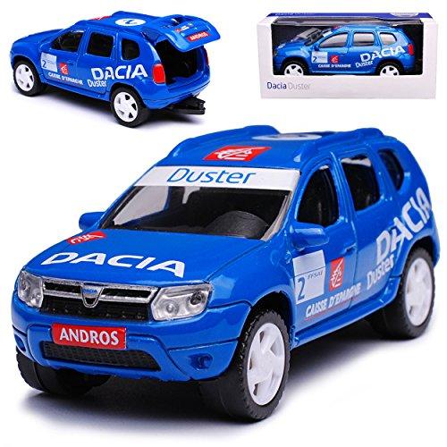 Dacia Duster SUV Rally Blau Ab 2010 1/64 Norev Modell Auto mit individiuellem Wunschkennzeichen (Duster Auto Modell)