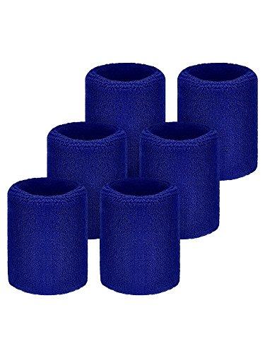 6 Packung Sport Wristbands Absorbierende Schweißbänder für Fußball Basketball, Leichtathletik Test