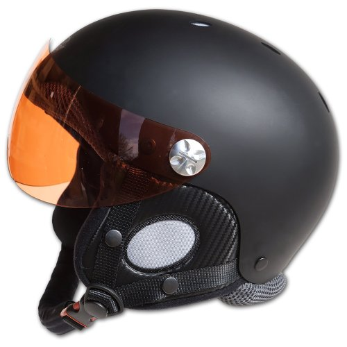 Charly Breeze, Gleitschirm- und Skihelm mit abnehmbarem Visier, matt schwarz, Größe L