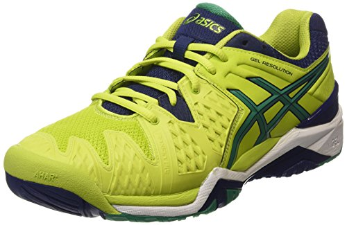 ASICS Gel-resolution 6, Herren Tennisschuhe, Grün (lime/pine/indigo Blue 0588), 45 EU