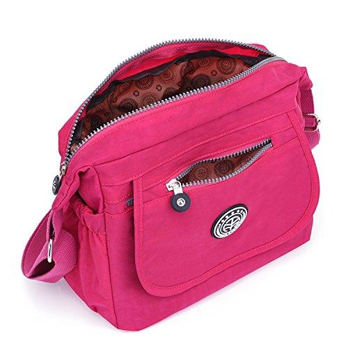 Outreo Borsa A Tracolla Borse Da Donna Designer Messenger Bag Impermeabile Borsa A Tracolla Moda Messenger Bag Borsa Da Viaggio Leggera Casual Rosso 2