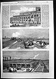 La copie antique du béton principal de drainage de Londres fraise les marais 1861 de Plaistow
