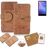 K-S-Trade Schutz Hülle für Leagoo KIICA Mix Handyhülle Kork Handy Tasche Korkhülle Schutzhülle Handytasche Wallet Case Walletcase Flip Cover Smartphone