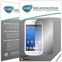"""2 x Slabo protector de pantalla Samsung Galaxy Trend Lite lámina protectora """"No Reflexion - No Reflexiones"""" MATE suprime reflejos MADE IN GERMANY"""