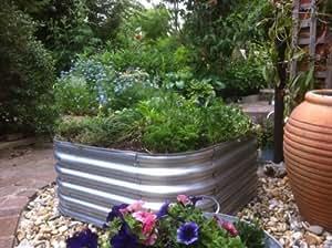 Aiuola rialzata da giardino in metallo zincato acciaio senza base