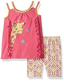 Nannette Girls Toddler 2 Piece Playwear Bike Short Set
