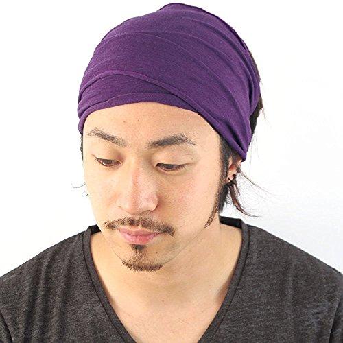 Casualbox Herren elastisch Bandana Stirnband Headband Japanisch lang Haar Dreads Kopf wickeln Mix Lila