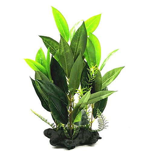 Yimosecoxiang comoda e bella Pet Supplies artificiale ornamento albero di cocco pianta acquario finta erba decorazione – verde