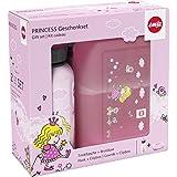 Emsa 516165 Set cadeau boîte à goûter et gourde 0.4 L, 100% sans risque, Édition limitée, Princesse
