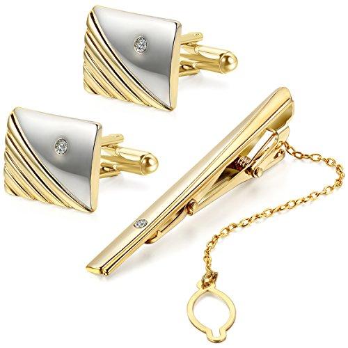 JewelryWe Legierung Krawattenkla...