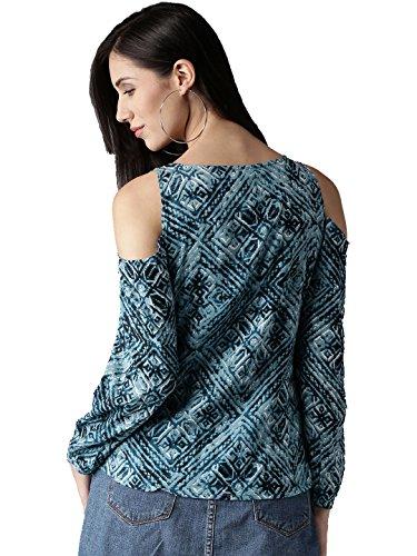 Amayra-Womens-Rayon-Cold-Shoulder-Printed-TopBlue