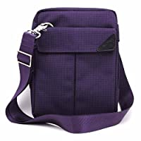 Padwa Lifestyle Pouch Soft Sleeve Carrying Bag with Shoulder Strap Zipper for ipad Mini Mini2 Mini3 Samsung Galaxy 7 Inch Android Tablet PC (Purple)