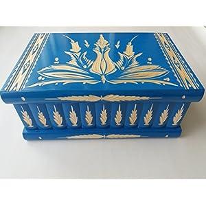 Gigant riesig groß blau Holz Puzzle spiel kasten box, geheimer Kasten, magischer Zauber Kasten, schöner ganz spezieller…