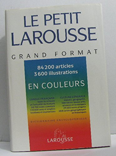 Petit Larousse grand format en couleurs 1994 020797
